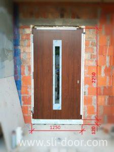 Максимальний розмір одностулкових дверей Hörmann Thermo65 1250*2250 мм.