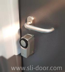 Можливе дооснащення вхідних дверей приводом дверного замка з дистанційним керуванням.