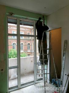 Монтаж металлопластиковых окон.